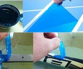 供应陶瓷助剂可撕隔离蓝胶  水性保护可撕胶