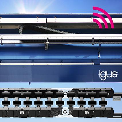 采用了滑动轴承的新款 igus 轮式拖链,使用寿命翻倍,更适用于长行程