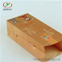 上海厂家批发食品包装小吃早餐方底纸袋定制