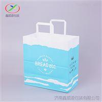 济南厂家可定制方底打包纸袋牛皮纸手提袋